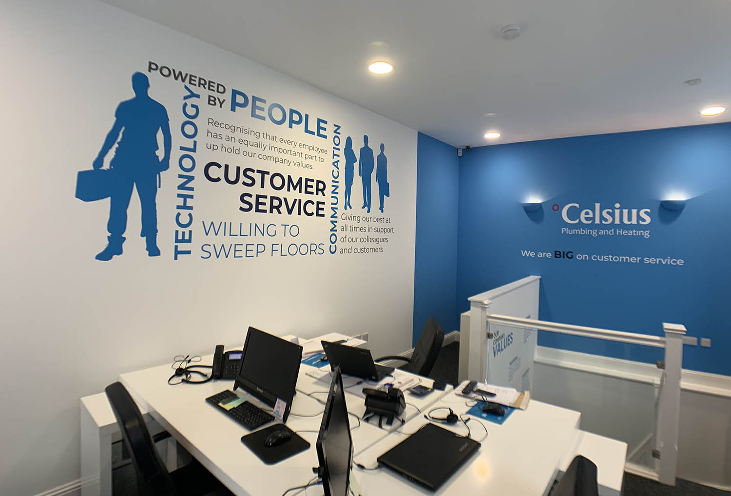 Celsius Plumbing & Heating Musselburgh Internal Office Signage