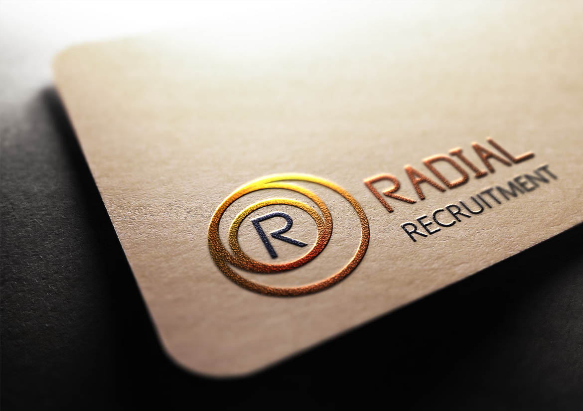 Fearless Creative helped Edinburgh based Radial Recruitment with Logo Design, Branding, Print and their Luxury Business Cards