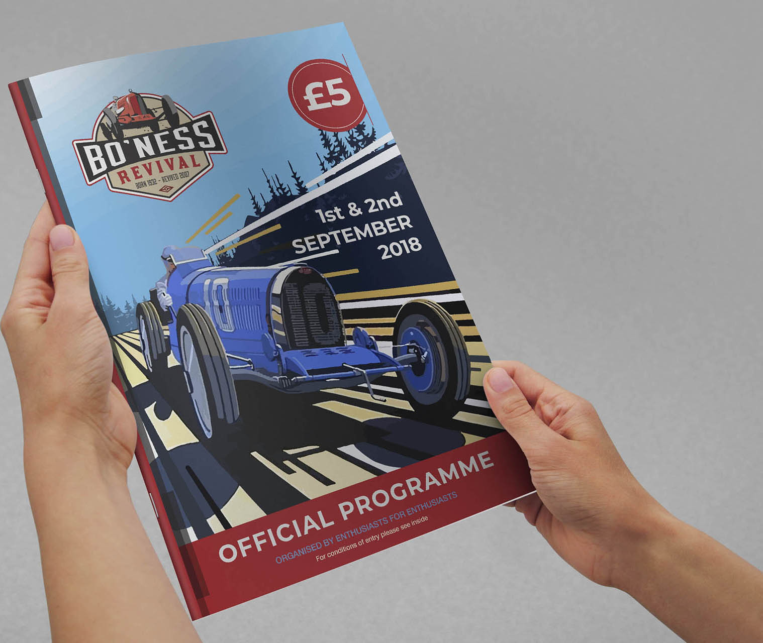 Bo'ness Revival got Fearless Creative to handle all their event marketing including leaflet design, graphic design, illustration and print. Fearless Creative Edinburgh were responsible for all event Magazine Publication and Printing