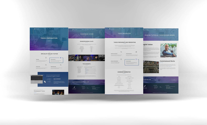 Dr Anthony Quinn website design Edinburgh education website design