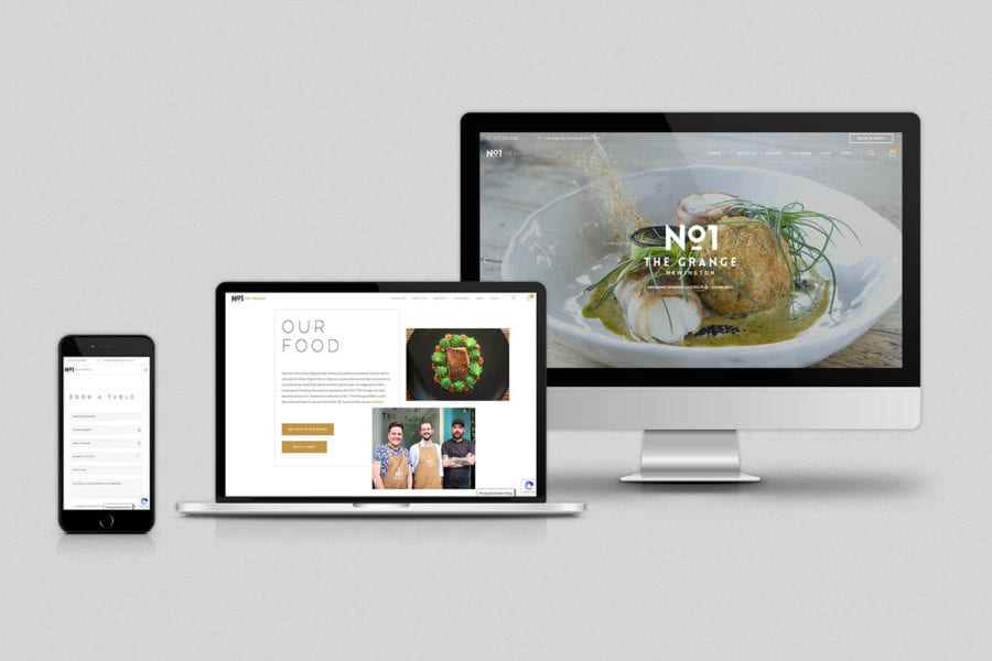 gastro pub and restaurant website design Edinburgh and Newcastle Fearless Creative
