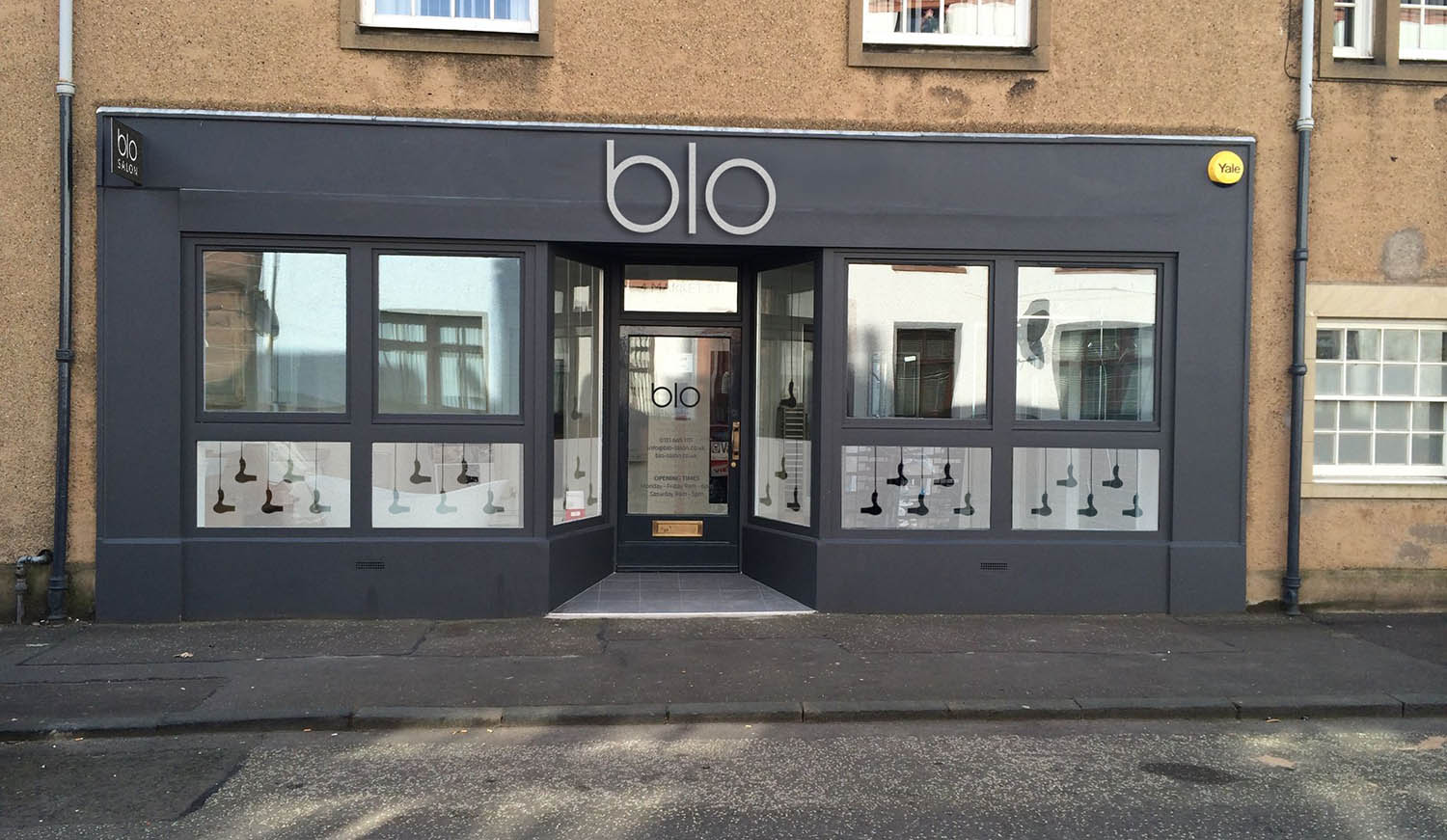 Blo Salon work Fearless Creative on Website Design Graphic Design in Musselburgh