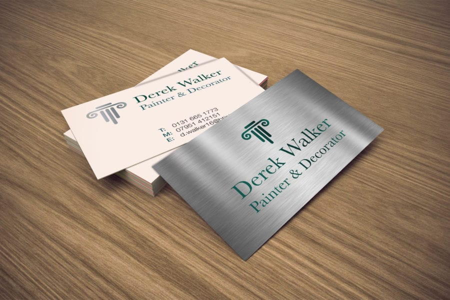 Derek Walker Painter & Decorator Design print buiness cards Edinburegh Fearless Creative