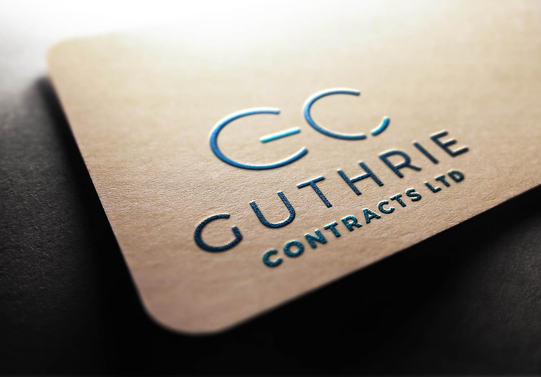 Guthrie Contracts Ltd Logo Design Branding Edinburgh by Fearless Creative