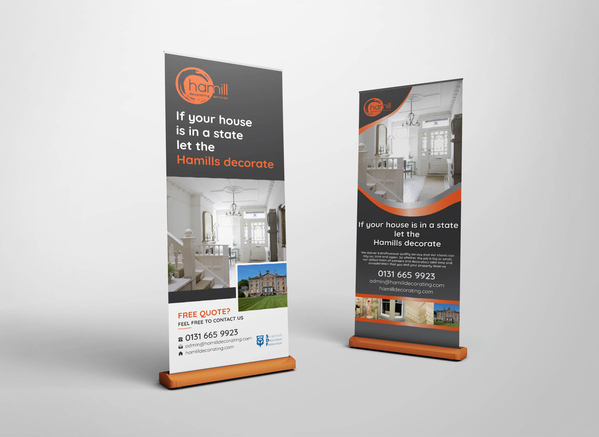 Hamill decorators edinburgh roller banners fearless creative