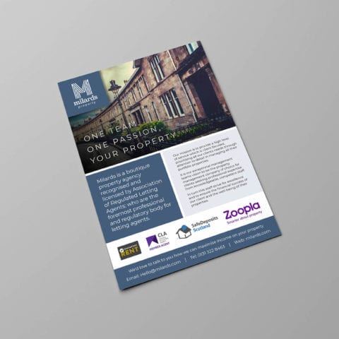 Milards Property Edinburgh Fearless Creative Graphic Desing and print