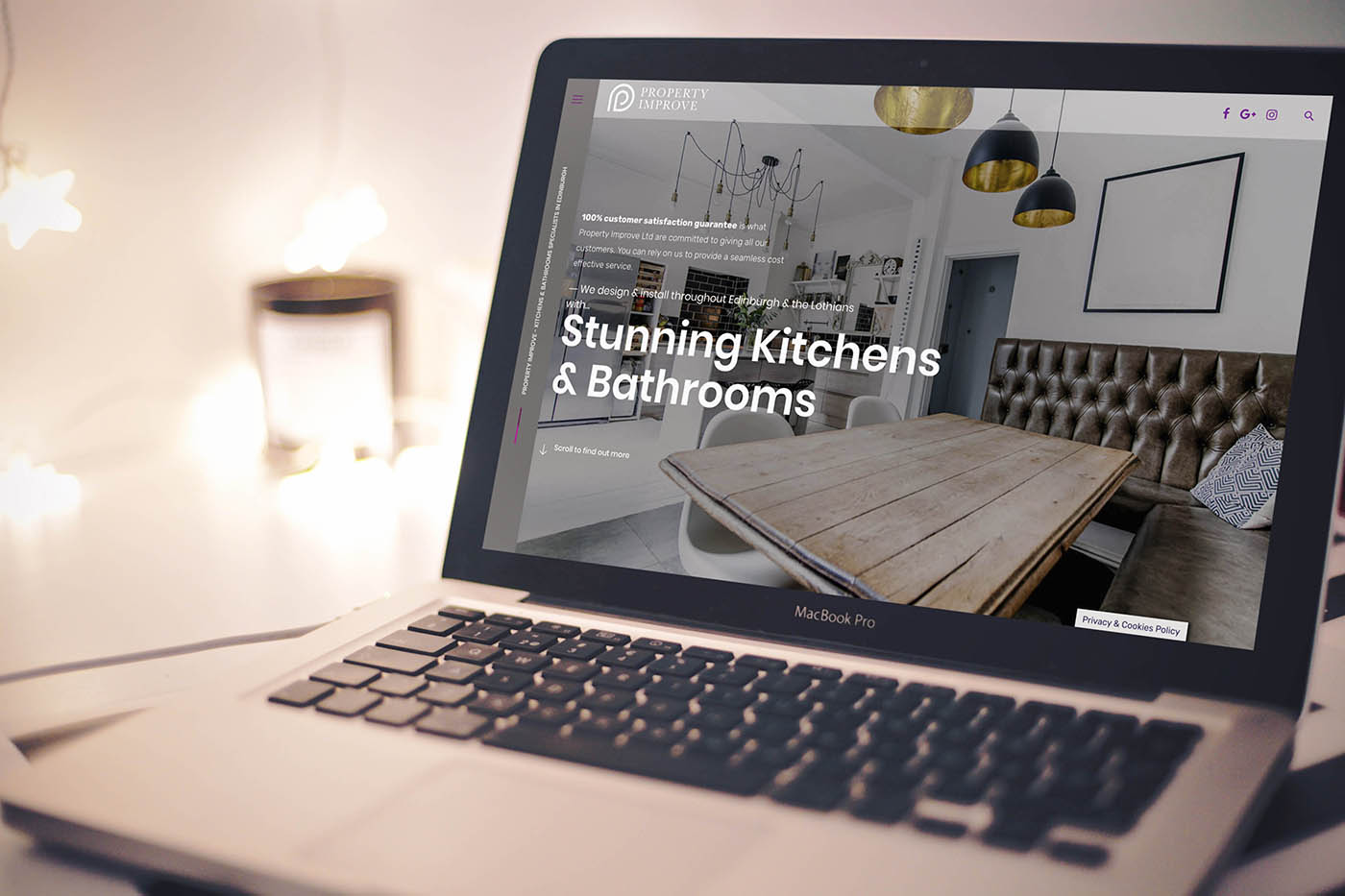 Property Improve Case Study Fearless Creative Kitchens & Bathrooms Website Design Edinburgh