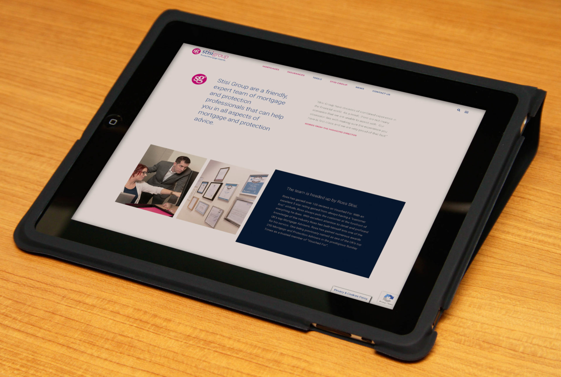 Stisi Group Case Study Fearless Creative Professional Business Website Design